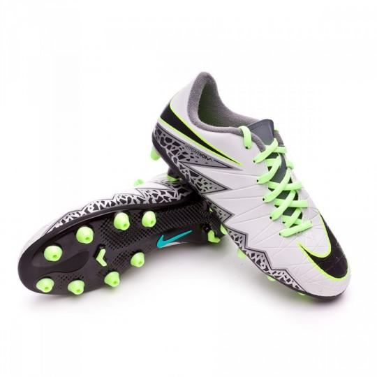 Chuteira  Nike jr Hypervenom Phelon II AG-R Pure platinium-Black-Ghost green-Clear jade