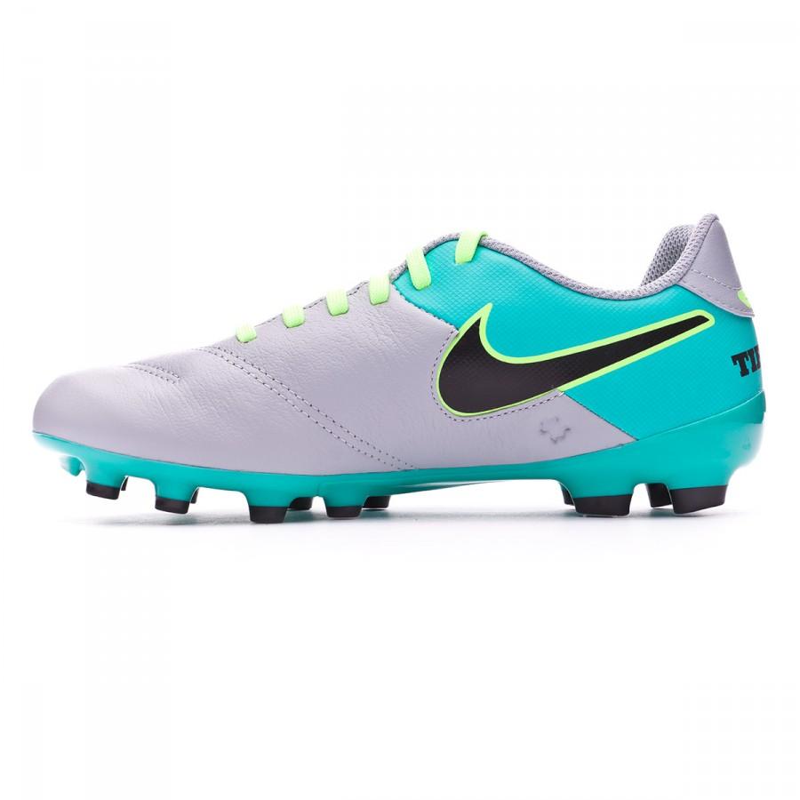 acaf7b187 Football Boots Nike Jr Tiempo Legend VI FG Wolf grey-Black-Clear jade-Metallic  silver - Football store Fútbol Emotion