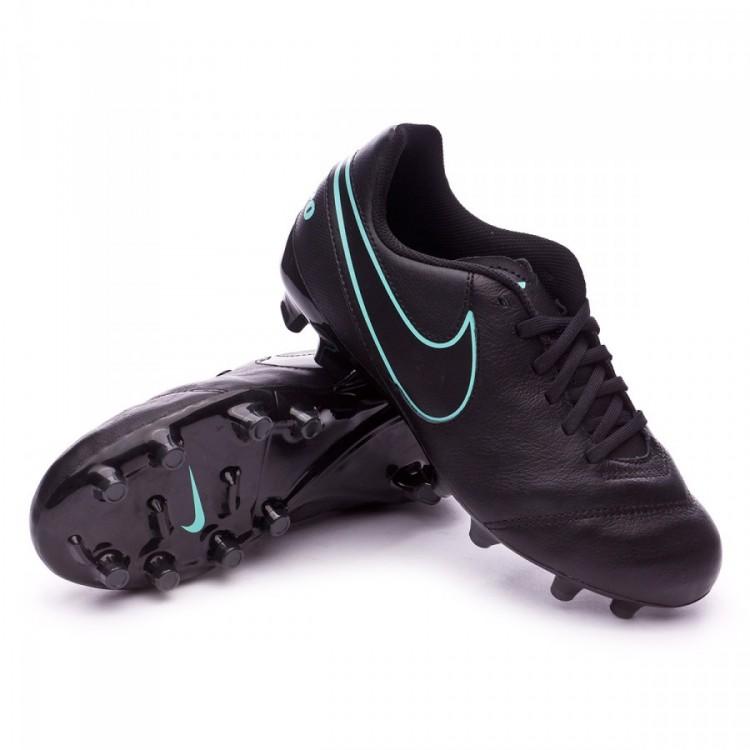 59158ef64b1b Football Boots Nike Jr Tiempo Legend VI FG Black-Hyper turquoise ...