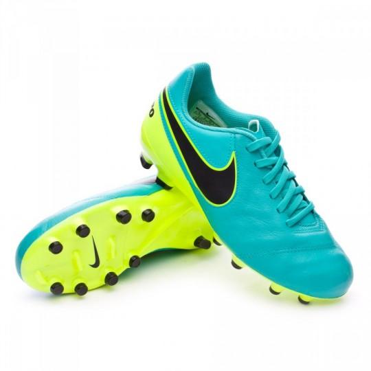 Chuteira  Nike jr Tiempo Legend VI FG Clear jade-Black-Volt
