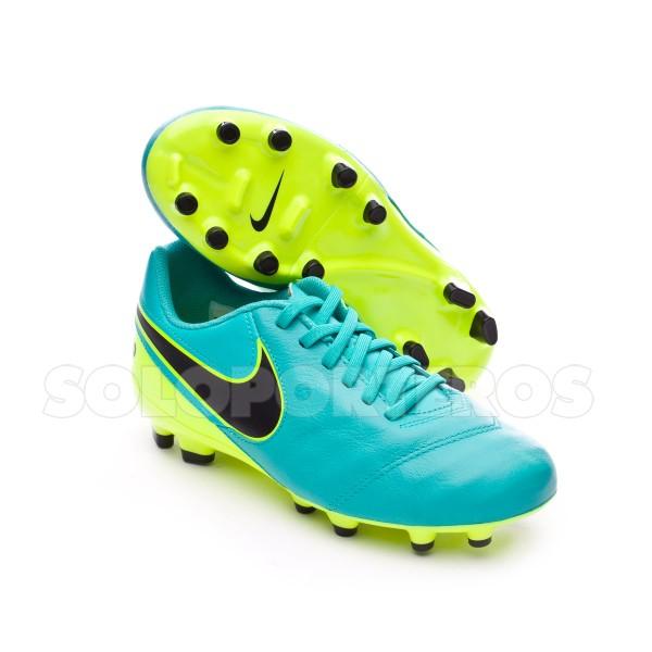 49b91619705 Football Boots Nike Jr Tiempo Legend VI FG Clear jade-Black-Volt - Tienda  de fútbol Fútbol Emotion