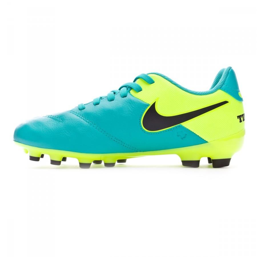 reputable site 08180 7599f Zapatos de fútbol Nike Tiempo Legend VI FG Niño Clear jade-Black-Volt -  Soloporteros es ahora Fútbol Emotion