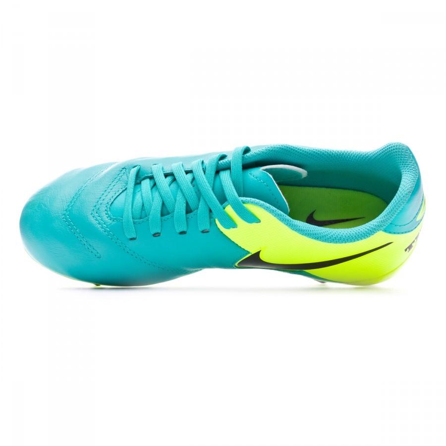 13b47cef0 Football Boots Nike Jr Tiempo Legend VI FG Clear jade-Black-Volt - Tienda  de fútbol Fútbol Emotion