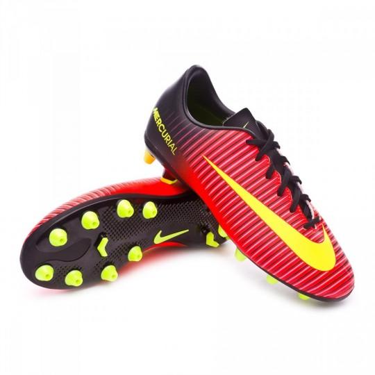 Chuteira  Nike jr Mercurial Vapor XI ACC AG Total crimson-Volt-Black-Pink blast