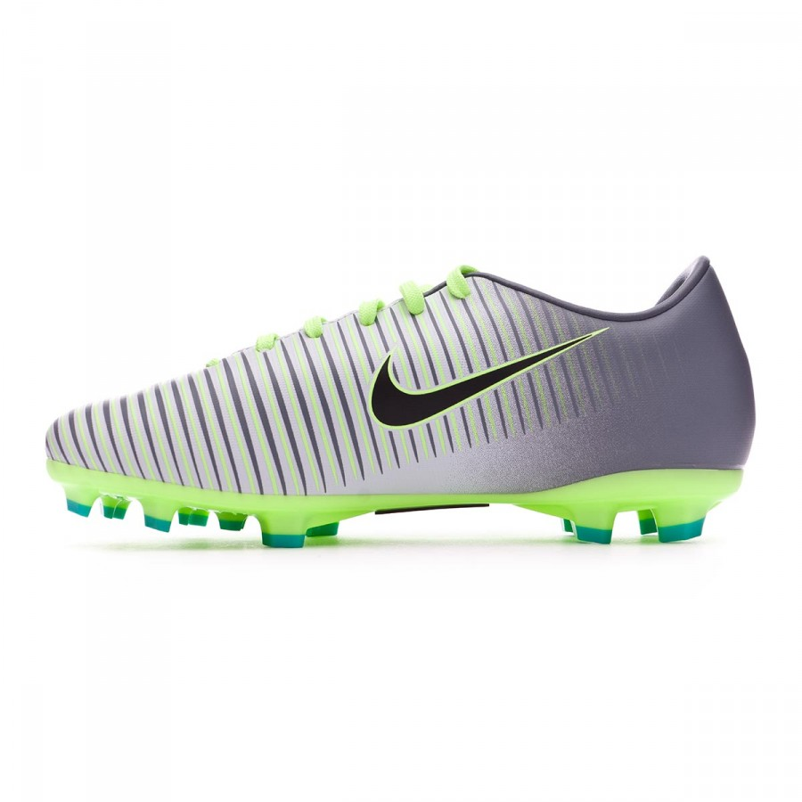 4367b402d Football Boots Nike Jr Mercurial Vapor XI ACC FG Pure platinium-Blask-Ghost  green-Clear jade - Football store Fútbol Emotion