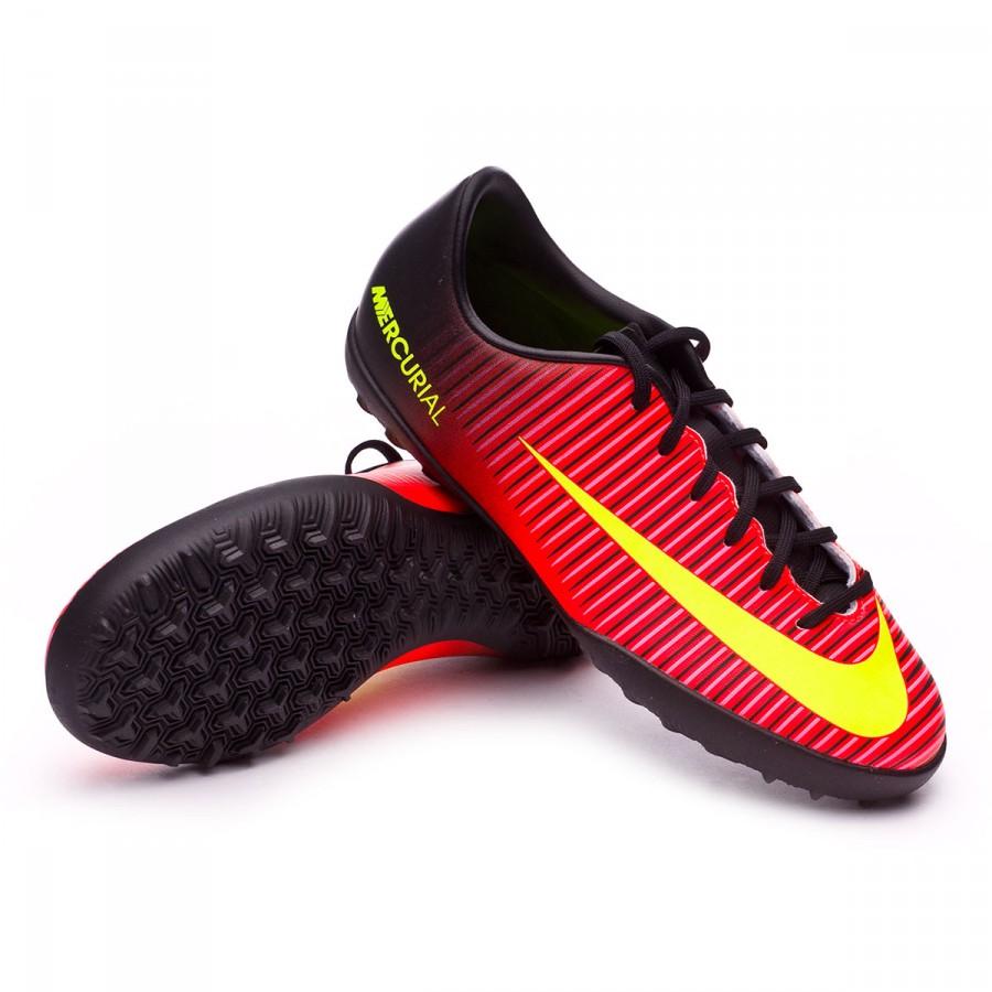 28b0eff74ed87 Football Boot Nike Jr MercurialX Vapor XI Turf Total crimson-Volt ...