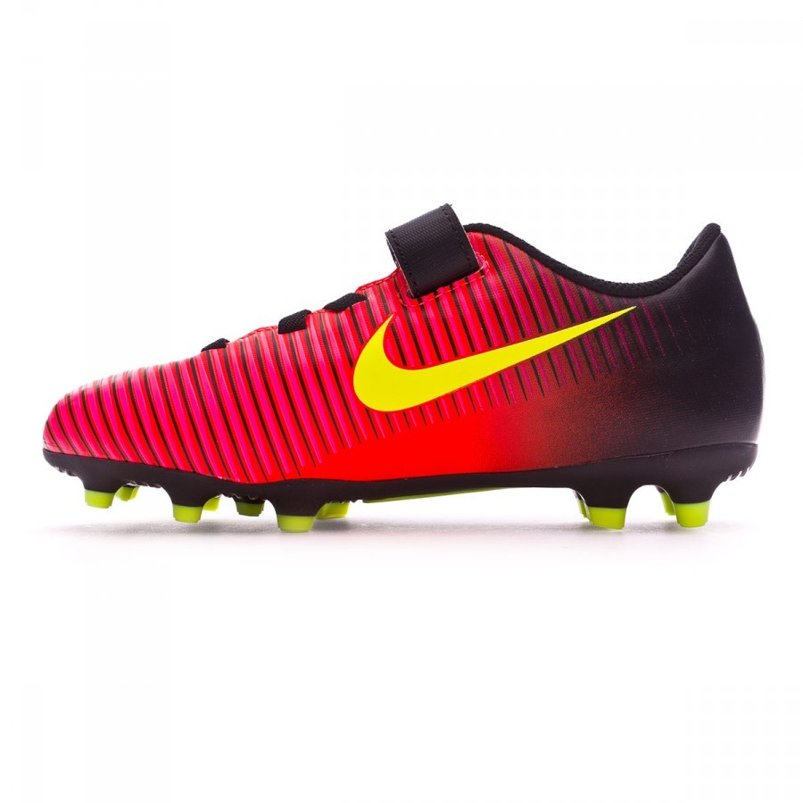 1a06277882 Chuteira Nike Jr Mercurial Vortex III FG (velcro) Total crimson-Volt ...