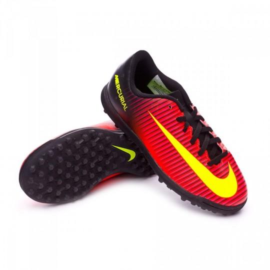 Chuteira  Nike jr Mercurial Vortex III Turf Total crimson-Volt-Black-Pink blast