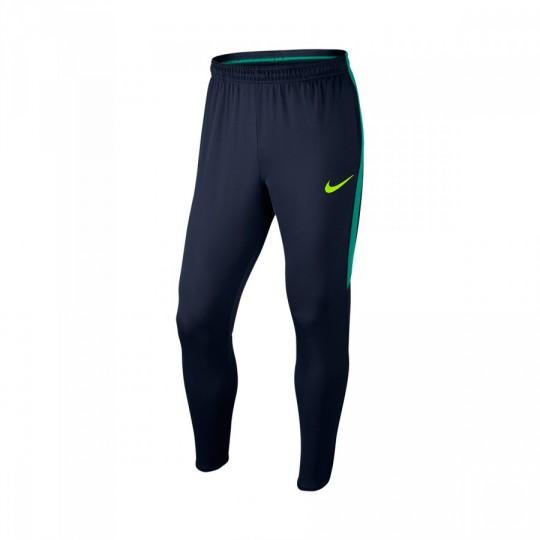 Pantalón largo  Nike Dry Football Pant Obsidian-Rio teal-Volt