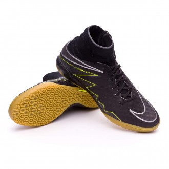 Sapatilha de Futsal  Nike HyperVenomX Proximo IC Black-Volt-Light brown