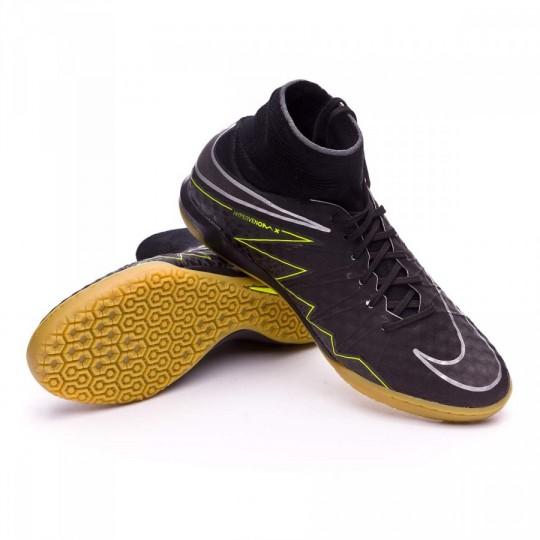 Sapatilha de Futsal  Nike HyperVenomX Proximo IC Black-Volt-Light brown