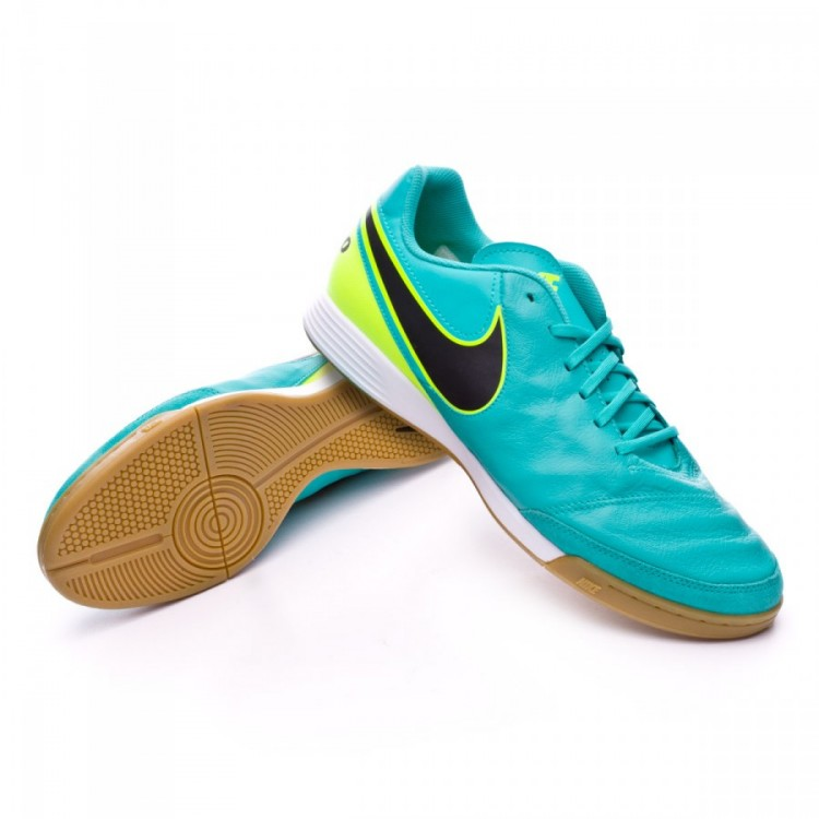 Tenis Nike TiempoX Genio II Leather IC Clear jade-Black-Volt ...