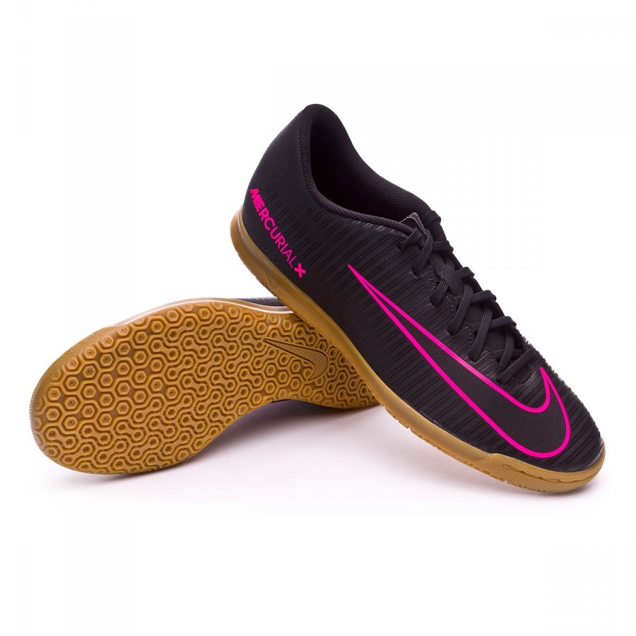 Futsal Boot Nike MercurialX Vortex III IC Black-Pink blast - Football store  Fútbol Emotion 3d760bff55d50