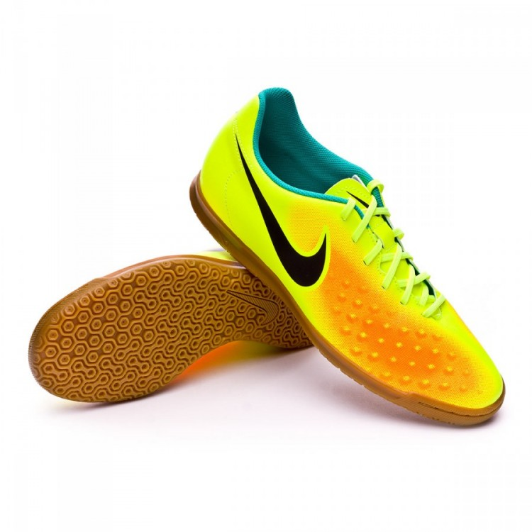 Futsal Boot Nike MagistaX Ola II IC Volt-Black-Total orange-Clear ... 715ac4b19