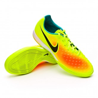 Sapatilha de Futsal  Nike Magista Onda II IC Volt-Black-Total orange-Clear jade
