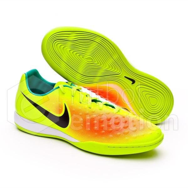 new product 72b36 f855d Futsal Boot Nike MagistaX Onda II IC Volt-Black-Total orange-Clear jade -  Soloporteros es ahora Fútbol Emotion