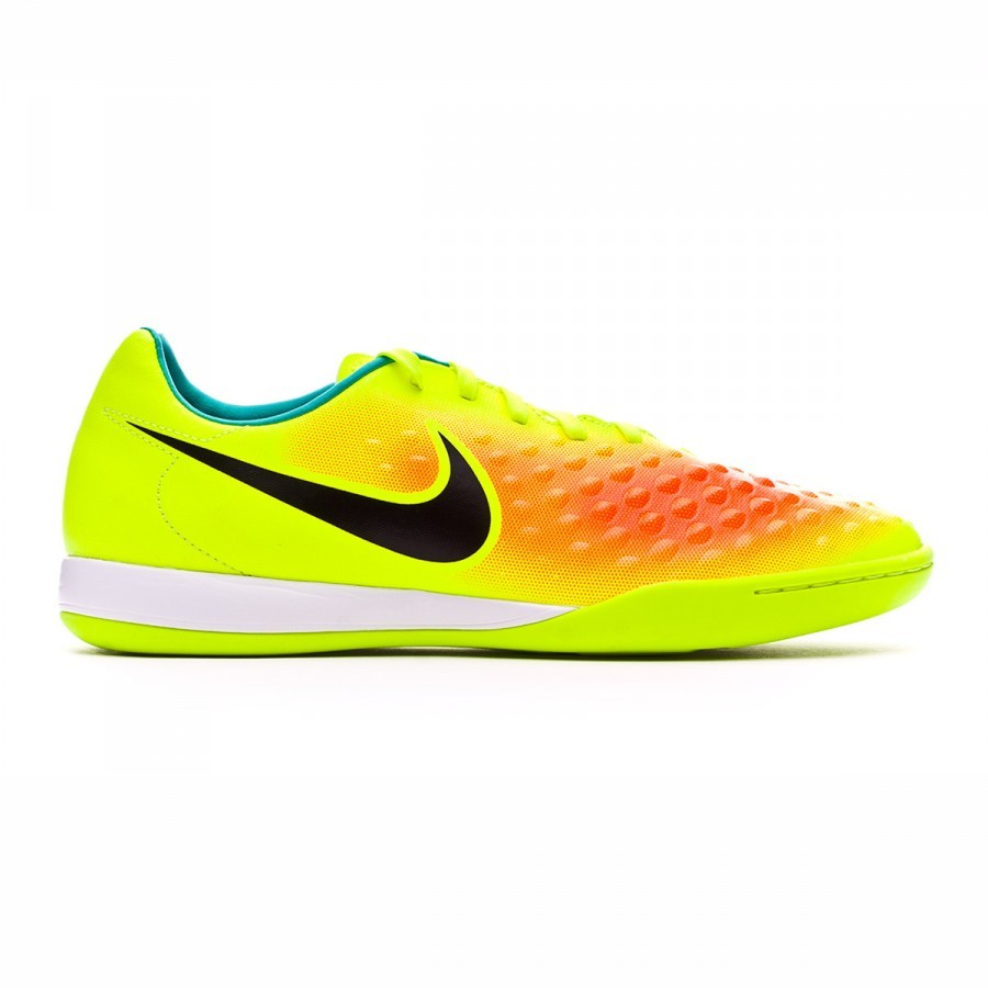 9c39bd5c77c67 Futsal Boot Nike MagistaX Onda II IC Volt-Black-Total orange-Clear jade -  Football store Fútbol Emotion