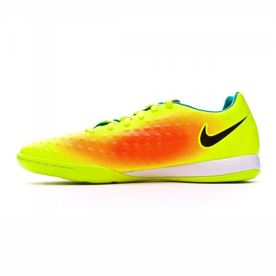 competitive price 925c2 2e9c9 Zapatilla Nike MagistaX Onda II IC Volt-Black-Total orange-Clear jade -  Soloporteros es ahora Fútbol Emotion