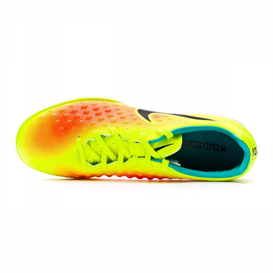 watch 0a160 a243c Tenis Nike MagistaX Onda II IC Volt-Black-Total orange-Clear jade -  Soloporteros es ahora Fútbol Emotion
