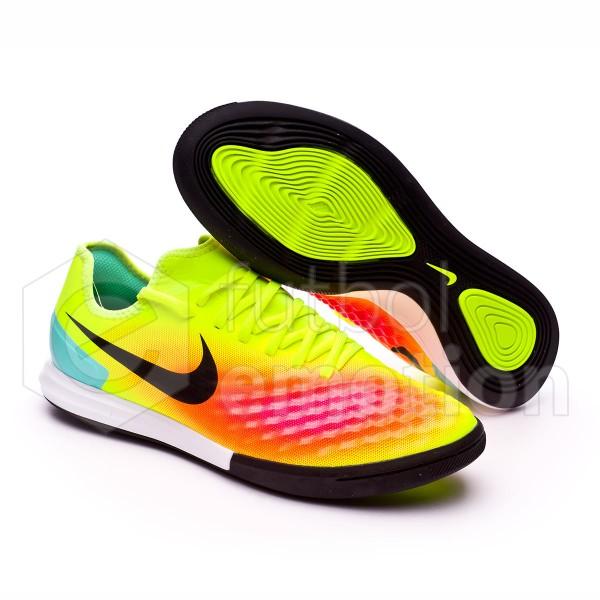 b86088b01b03 Futsal Boot Nike MagistaX Finale II IC Volt-Black-Total orange-Pink blast -  Football store Fútbol Emotion