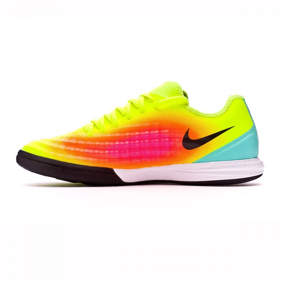 d52bcbc537a3 Futsal Boot Nike MagistaX Finale II IC Volt-Black-Total orange-Pink blast -  Football store Fútbol Emotion