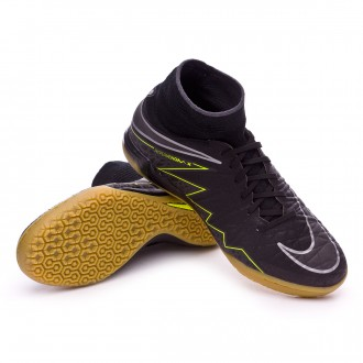 Zapatilla de fútbol sala  Nike jr HyperVenomX Proximo IC Black-Volt-Light brown