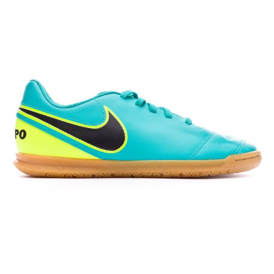 ebb1eb0c74324 Zapatilla Nike TiempoX Rio III IC Niño Clear jade-Black-Volt - Tienda de fútbol  Fútbol Emotion