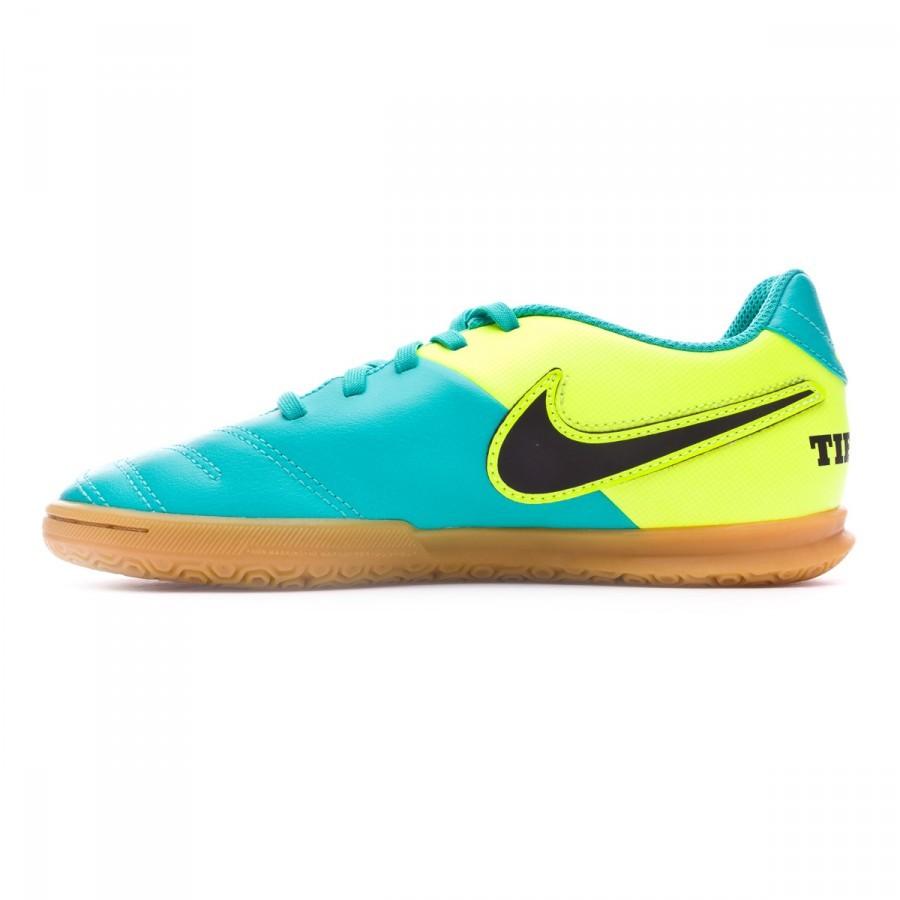 0974ae19dc522 Zapatilla Nike TiempoX Rio III IC Niño Clear jade-Black-Volt - Tienda de fútbol  Fútbol Emotion