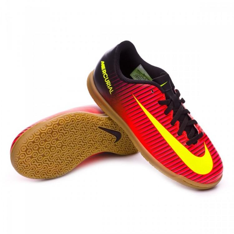 Zapatilla Nike MercurialX Vortex III IC Niño Total crimson-Volt ... 26d08dab80c59
