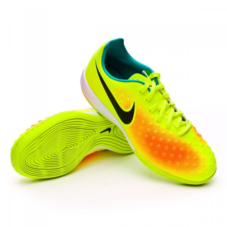 688e06fbb0bb9 Futsal Boot Nike Jr MagistaX Opus II IC Volt-Black-Total orange ...