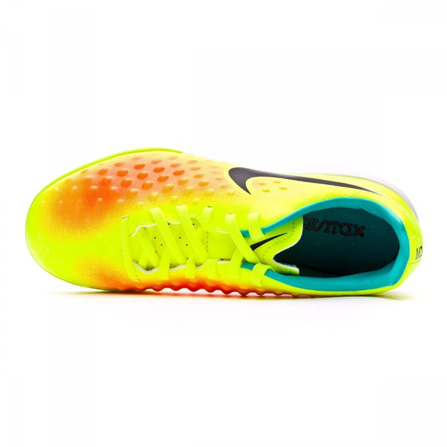 sports shoes b43b7 fc035 ... Zapatilla MagistaX Opus II IC Niño Volt-Black-Total orange-Clear jade.  CATEGORY
