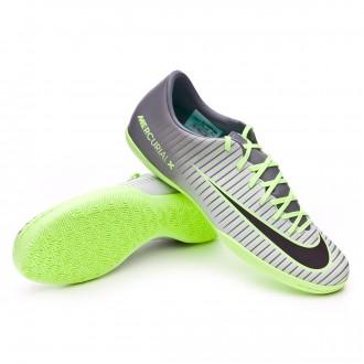 Zapatilla de fútbol sala  Nike Mercurial Victory VI IC Pure platinium-Black-Ghost green-Clear jade