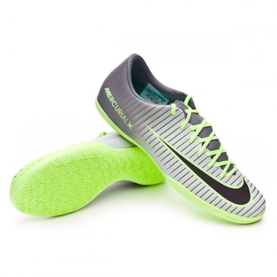 Sapatilha de Futsal  Nike Mercurial Victory VI IC Pure platinium-Black-Ghost green-Clear jade