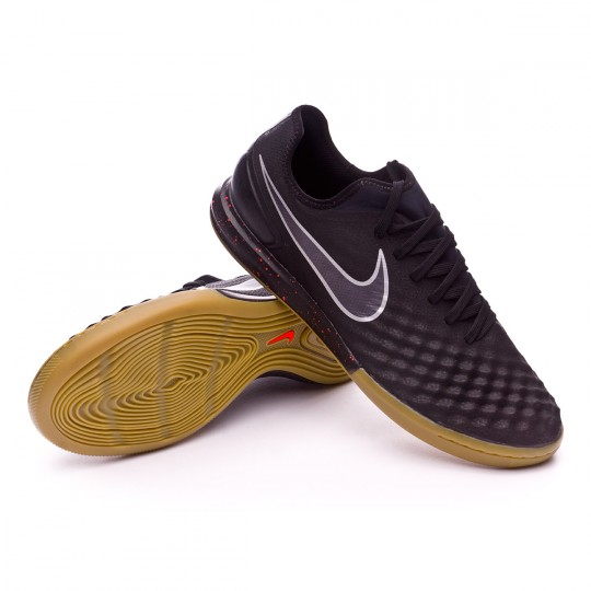 Sapatilha de Futsal  Nike MagistaX Finale II IC Black-Total crimson-Light brown