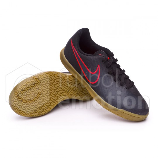 Sapatilha de Futsal  Nike jr Magista Ola II IC Black-Total crimson