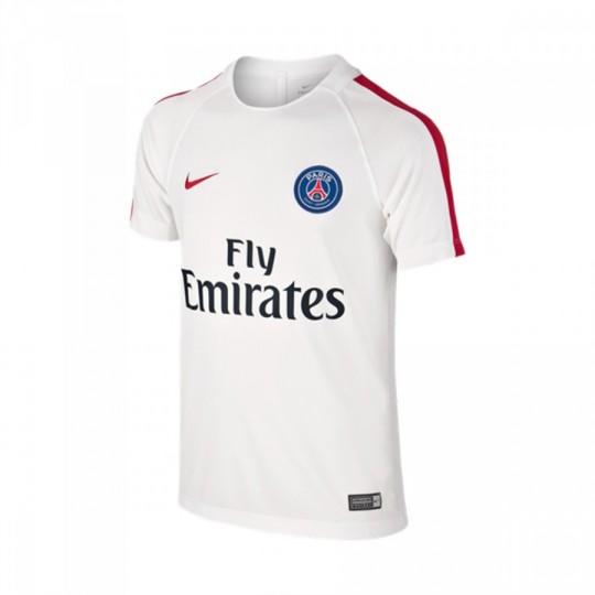 Camiseta  Nike Paris Saint-Germain Training Top 2016-2017 White-University red