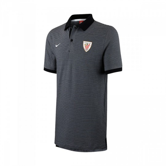 Polo  Nike AC Bilbao Authentic Grand Slam 2016-2017 Black-Pure platinium