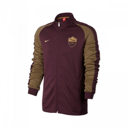 Chaqueta  Nike AS Roma Authentic N98 2016-2017 Night maroon-Team red-Gold