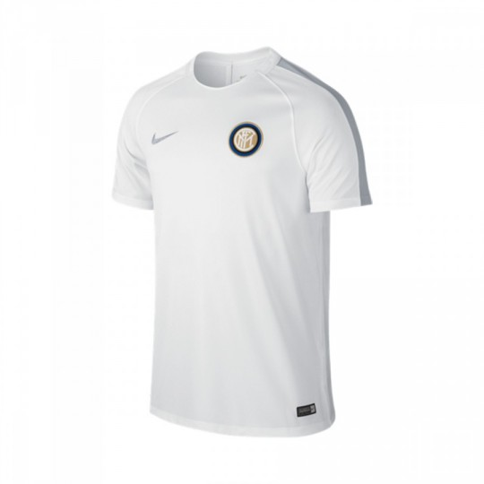 Camiseta  Nike jr Inter Milan Dry Top 2016-2017 White-Wolf grey