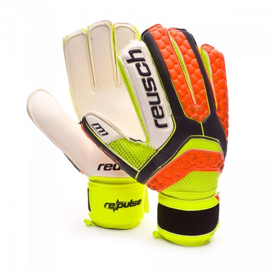 Guanto  Reusch Re:pulse Prime M1 Ortho-Tec Black-Shocking orange