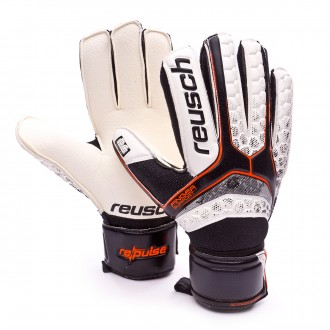 Luvas  Reusch Re:Pulse RG Finger Support Black-Shocking orange