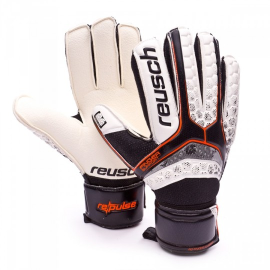 Guante  Reusch Re:Pulse RG Finger Support Black-Shocking orange