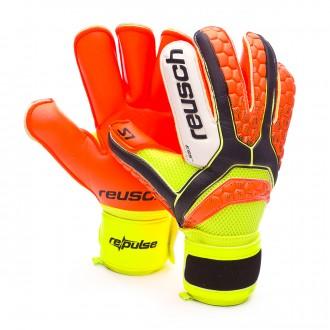 Guante  Reusch Re:pulse Prime S1 Roll Finger Black-Shocking orange