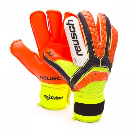 Guante  Reusch Re:pulse Prime S1 Roll Finger Black-Shocking orange