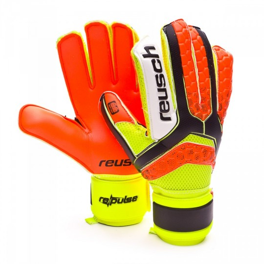 Guante  Reusch Re:Pulse SG Extra Black-Shocking orange