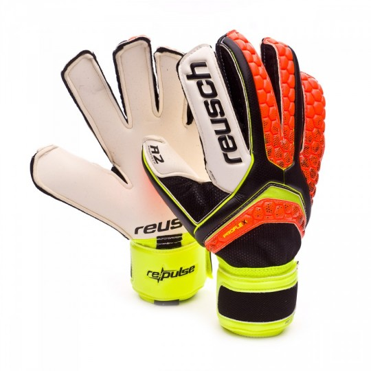 Guante  Reusch Re:pulse Pro A2 Stormbloxx Black-Shocking orange