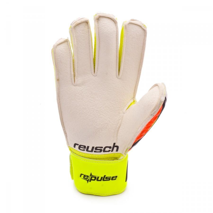 1336bff0f27d1 Guante de portero Reusch Re pulse RG Finger Support Niño Black-Shocking  orange - Tienda de fútbol Fútbol Emotion