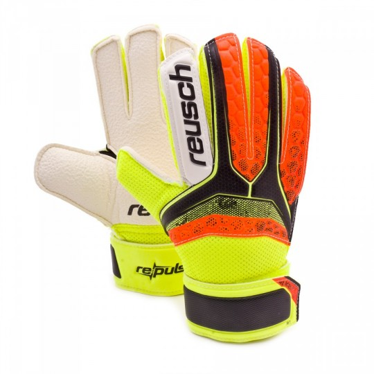 Guante  Reusch Jr Re:pulse RG Black-Shocking orange