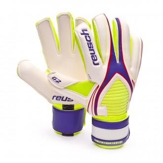 Luvas  Reusch World Keeper G2 Exclusivo Purple-Safety yellow