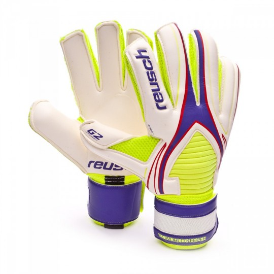 Guanto  Reusch World Keeper G2 Exclusivo Purple-Safety yellow